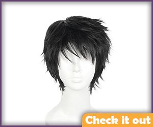 Men's Black Wig.