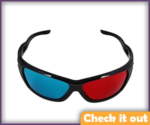 Red and Blue Lens Sunglasses.