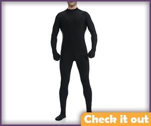 Men's Black Bodysuit.
