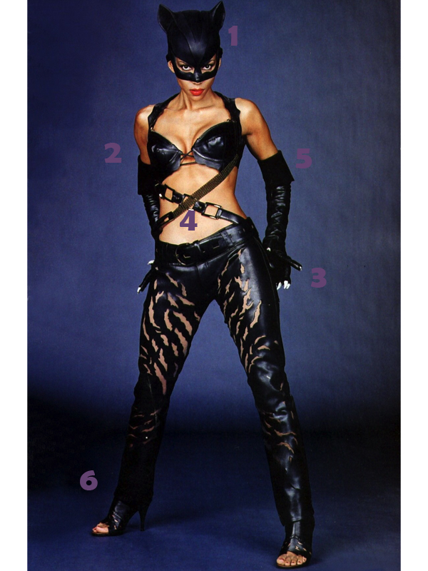 Halle Berry Catwoman Costume Parts.