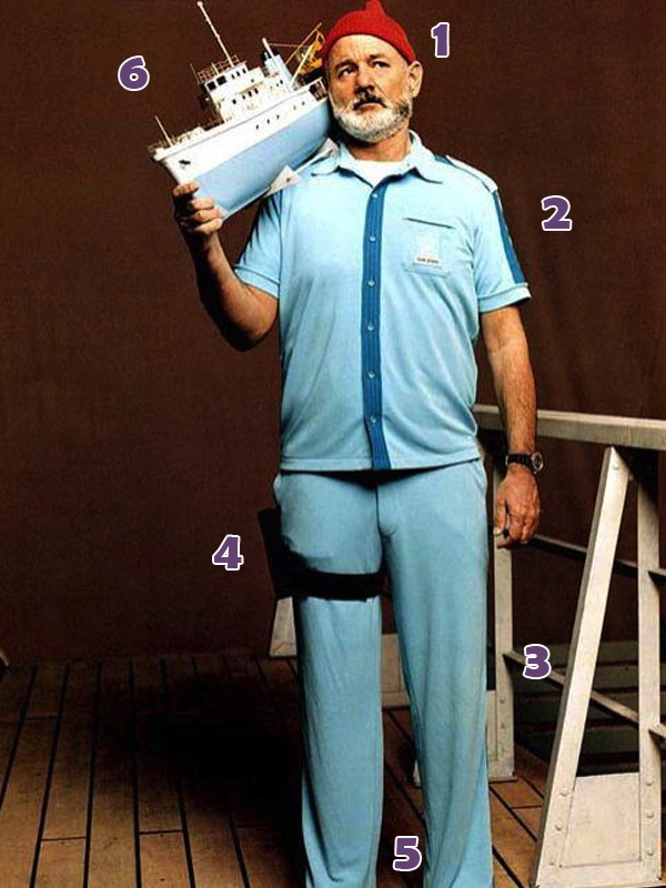 Steve Zissou Costume Parts.
