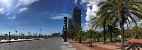 Barcelona - Promenade am olympischen Hafen
