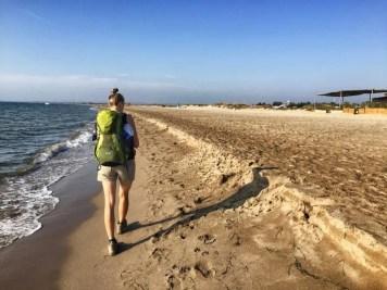 Einsame Strandwanderung