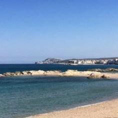 """Der letzte Teil von Etappe 4 führt wieder am Strand entlang - hier die """"Playa Sant Marti D Empuries"""""""