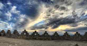 Abendstimmung auf der Burg von Begur