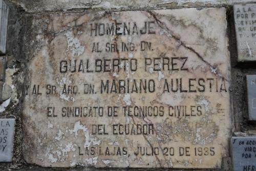 Oldest plaque we saw, 1935
