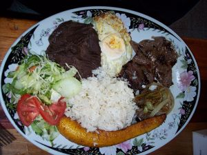 Typical Costa Rican Meal