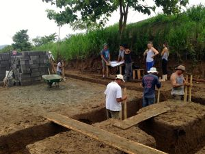 Cirenas main classroom foundation work