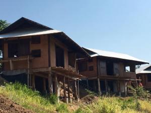 overhanging cabin dorms