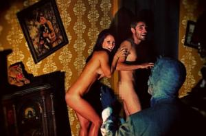 naked and scared haunted house