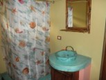 nice bathroom with wood ceilings in 1 BR home and lot for sale in san ramon costa rica