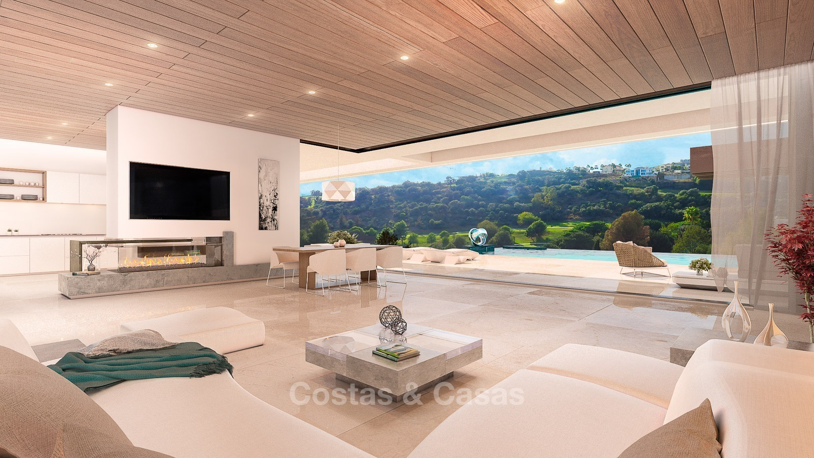 Luxury Modern New Villa Sea Golf Views For Sale Benahavis Marbella