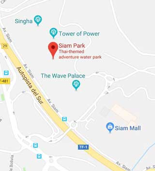 Siam Park Tenerife Mapa