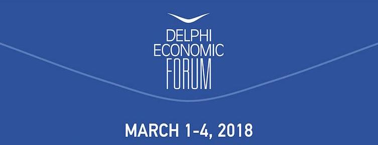 Συνομιλία του Κώστα Σημίτη με τον Παύλο Τσίμα στο 3ο συνέδριο του Οικονομικού Φόρουμ Δελφών