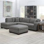 Thomasville Artesia Grey Fabric Sectional Sofa With Ottoman Costco Uk