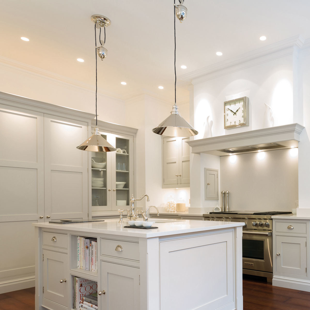 elstead provence one light rise and fall pendent ceiling light in polished nickel costco uk