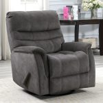 Thomasville Felix Grey Fabric Swivel Glider Recliner Chair Costco Uk