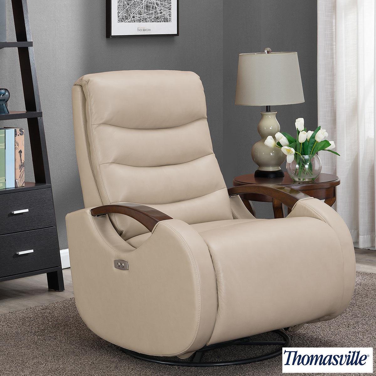 thomasville benson leather power glider recliner chair costco uk