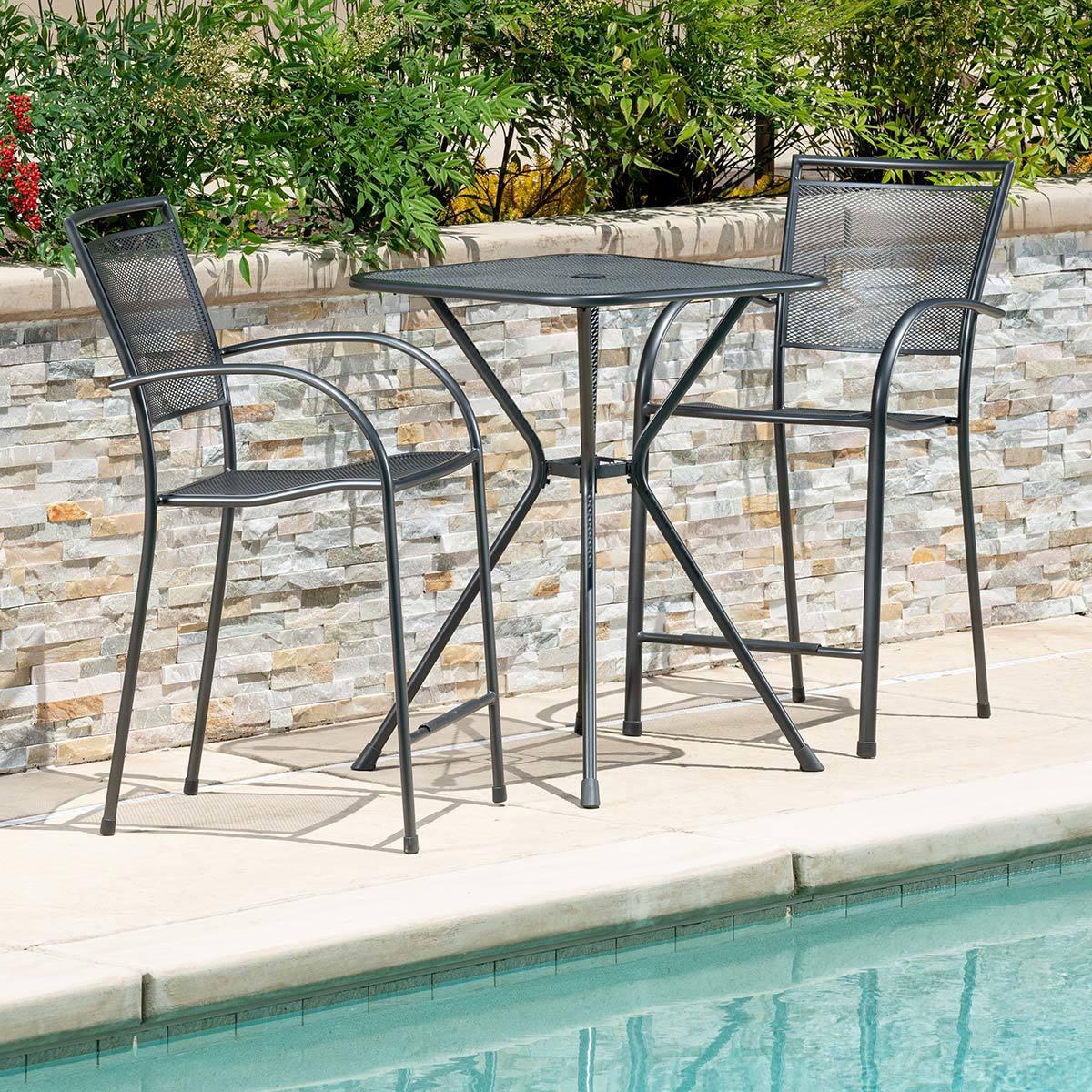 sunvilla mesh 3 piece bar height bistro patio set costco uk