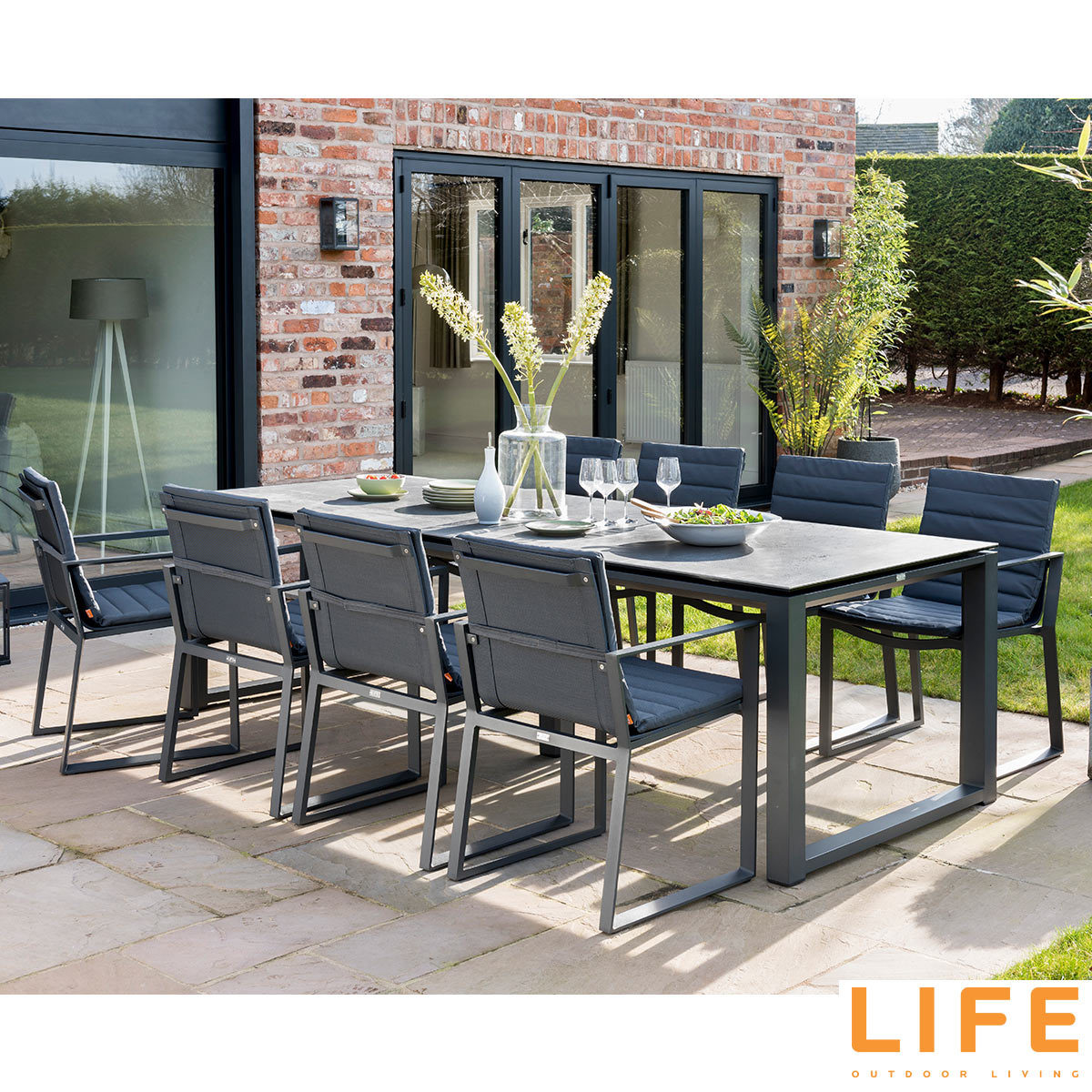 life outdoor living kiama 9 piece dining set costco uk