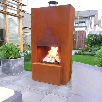 Firepits & Patio Heaters on Quillen Steel Outdoor Fireplace id=22373