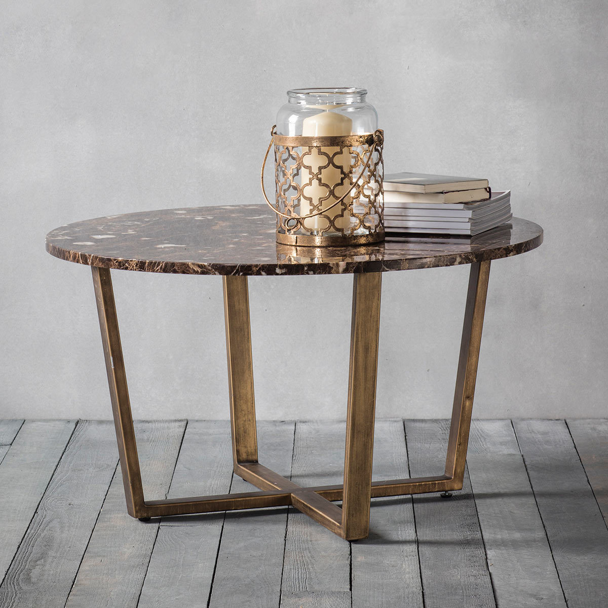Emperor Brown Marble Round Coffee Table Costco Uk