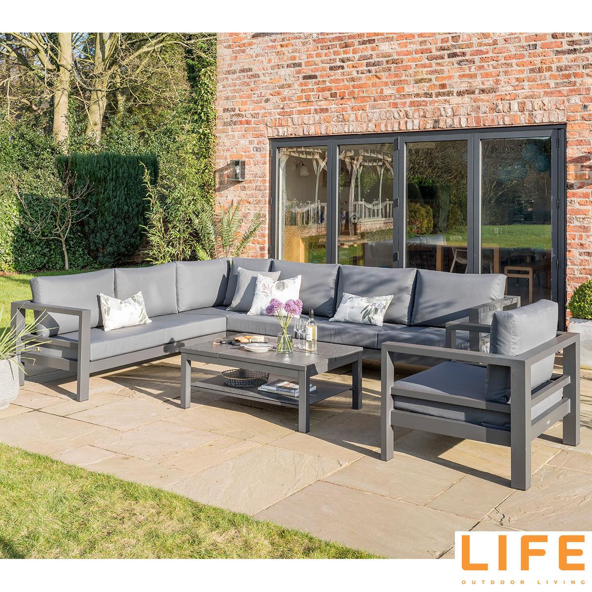 life outdoor living lava 6 piece corner seating set costco uk