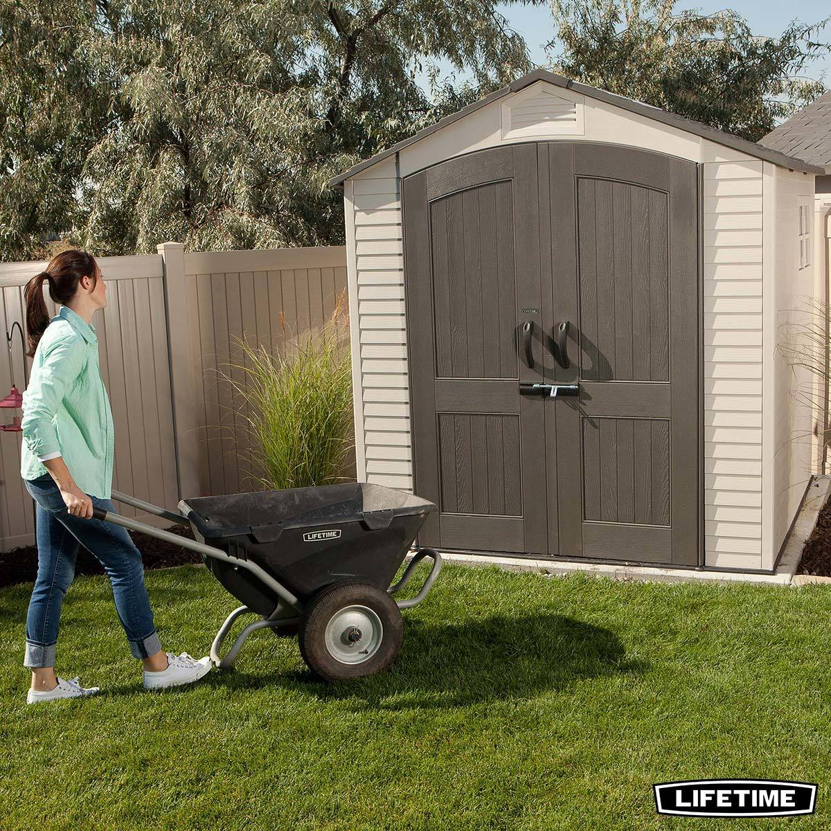 lifetime 7ft x 7ft 2 1 x 2 1m outdoor storage shed costco uk