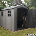 Lifetime 7ft X 9ft 6 2 1x 2 9m Rough Cut Storage Shed Costco Uk