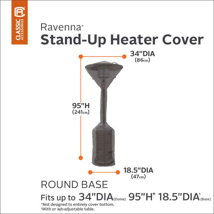 classic accessories ravenna stand up patio heater cover costco uk