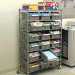 Seville Classics Storage Bin Rack With 7 Shelves And 18 Heavy Duty Bins Costco Uk
