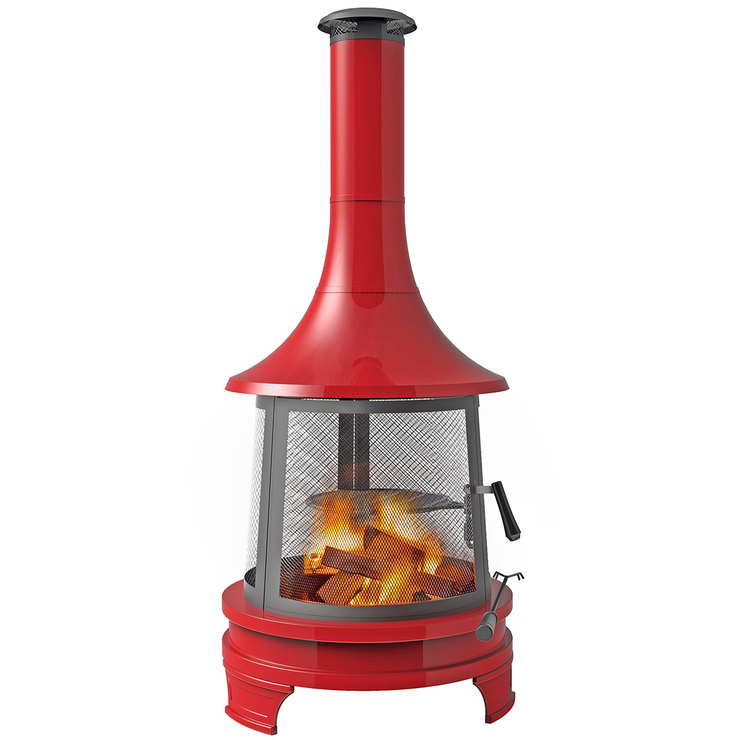 Hello Outdoors Chiminea Red | Costco Australia on Costco Outdoor Fireplace  id=54342