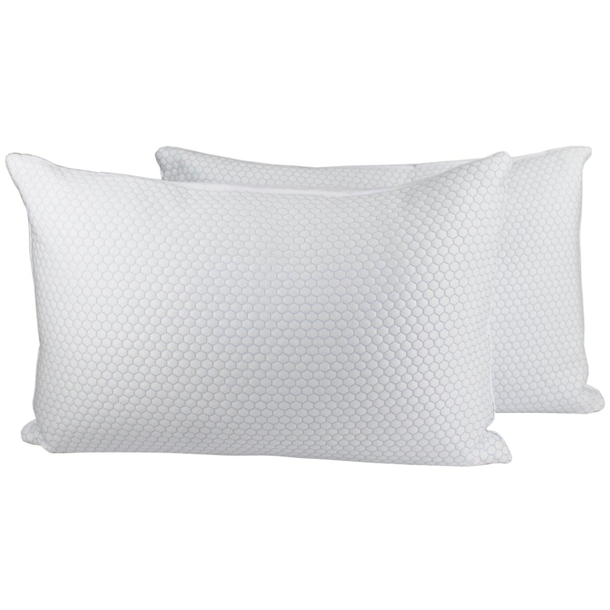 gracious living cluster memory foam pillow 2pk