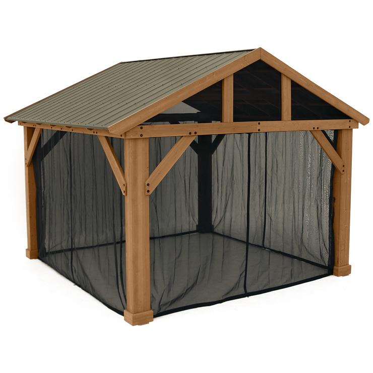 Yardistry 4.26 x 3.66 m Gazebo Mesh Kit | Costco Australia on Yardistry Backyard Pavilion id=24137