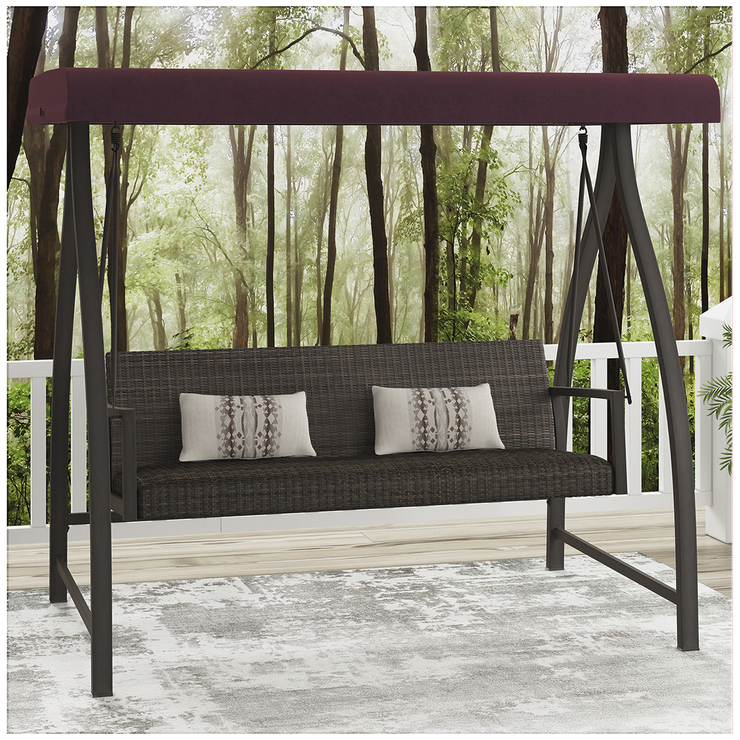 agio mckenzy woven patio swing costco australia