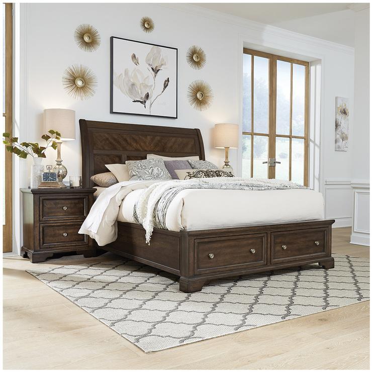 universal broadmoore drey queen storage bed