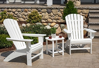 adirondacks chairs garden benches
