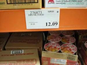 Costco Drunk Food tag