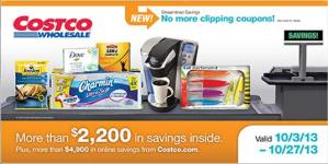 October 2013 Costco Coupon Book Cover