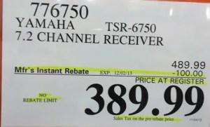 Yamaha Black Friday discounted price tag
