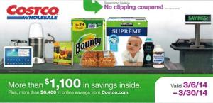 March 2014 Costco Coupon Book Cover