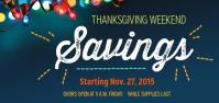 Thanksgiving Weekend Savings