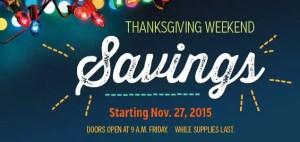 Thanksgiving Weekend Savings