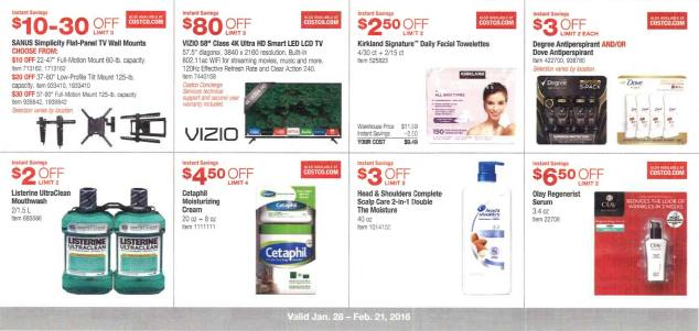 February 2016 Costco Coupon Book Page 3
