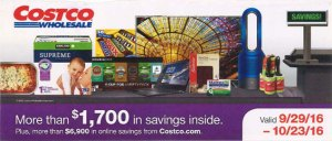 October 2016 costco coupon book cover