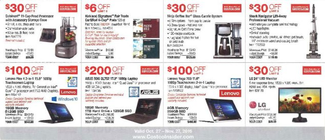 November 2016 Costco Coupon Book Page 3