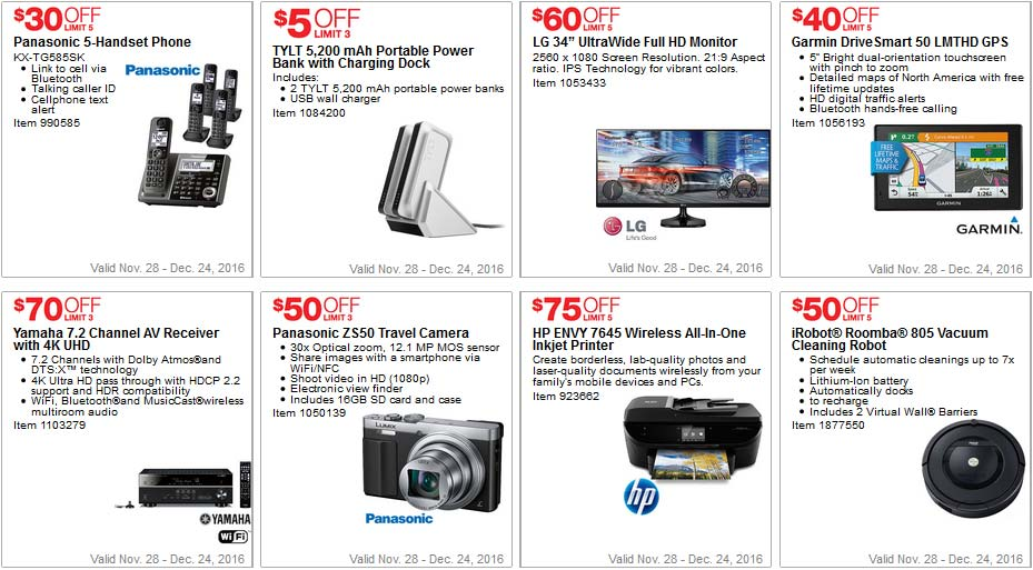 Awesome Costco Coupons December Page