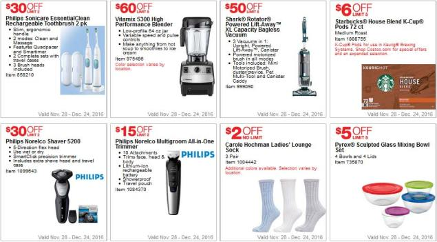 Costco Coupons December 2016 Page 3