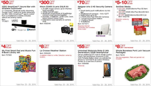 Costco Black Friday 2016 Weekend Coupons Page 2