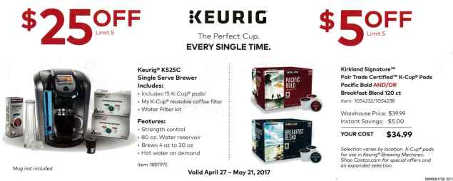 Costco May 2017 Coupon Book Page 1